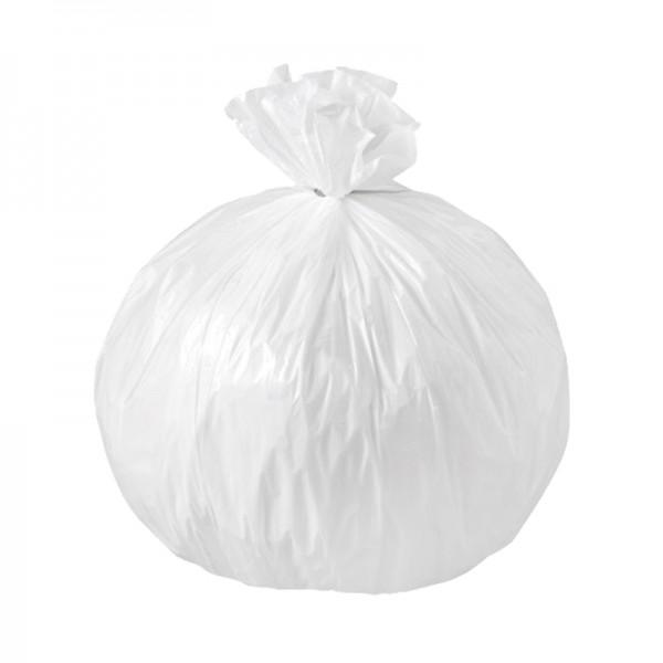 Sac poubelle 14µ haute densité - blanc - 50 L - Carton de 20 x 25