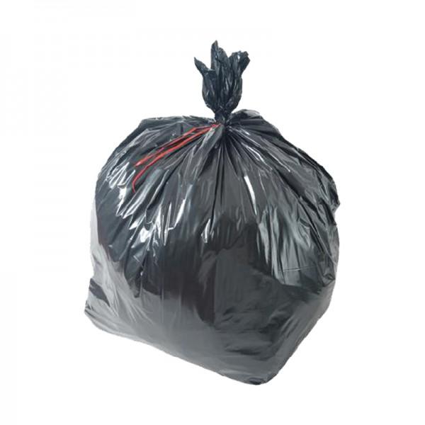 Sac poubelle 65 µ basse densité - noir - 150 L - Carton de 5 x 20 sacs