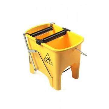 Seau à rouleaux pour frange de lavage à plat - 15 Litres