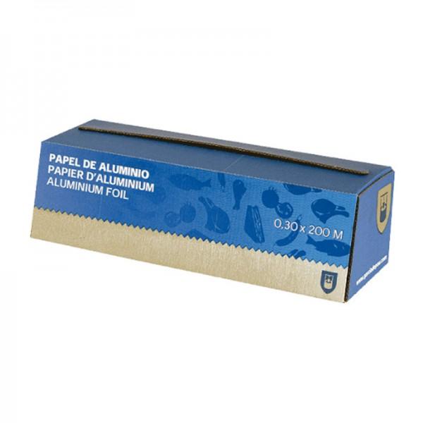 Papier aluminium alimentaire en boite distributrice - 30 cm x 200 mètres