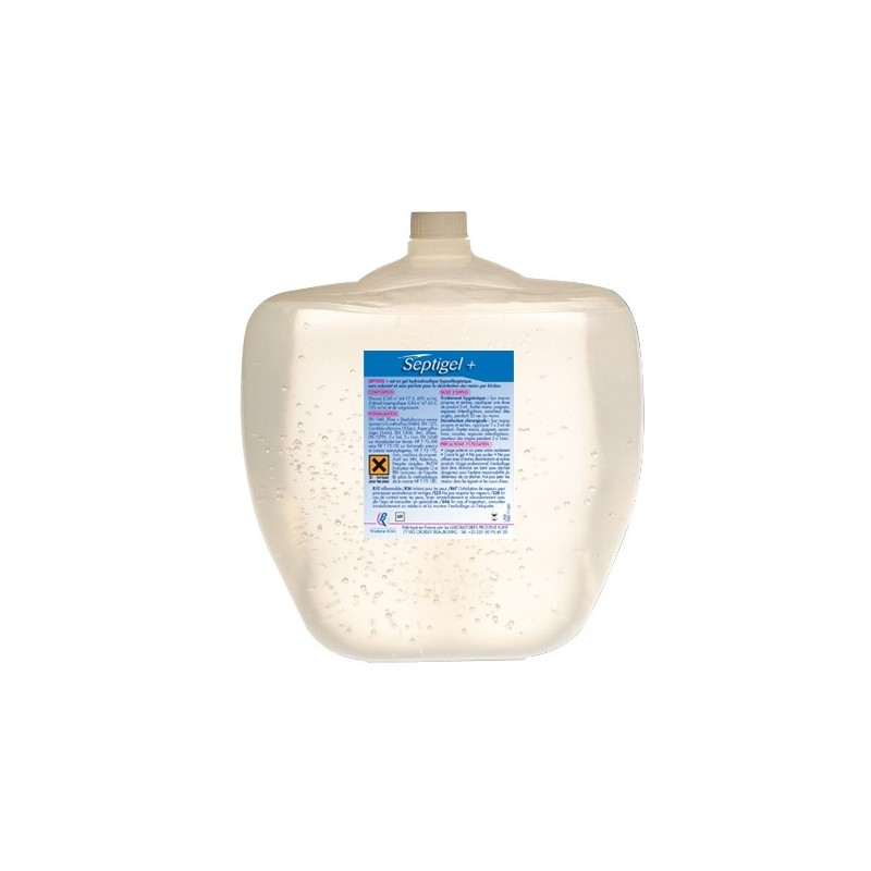 Gel hydroalcoolique inodore / incolore cartouche de 1 litre