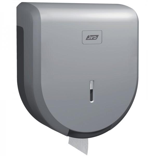Dérouleur papier toilette mural gris pour bobine mini jumbo