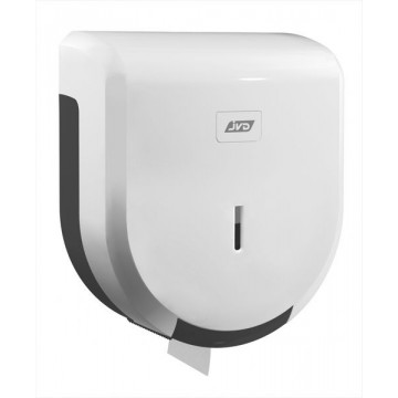 Dérouleur papier toilette mural blanc pour bobine mini jumbo