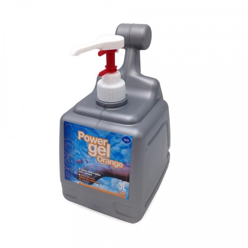 Savon microbilles à l'orange en bidon de 3 litres avec pompe intégrée