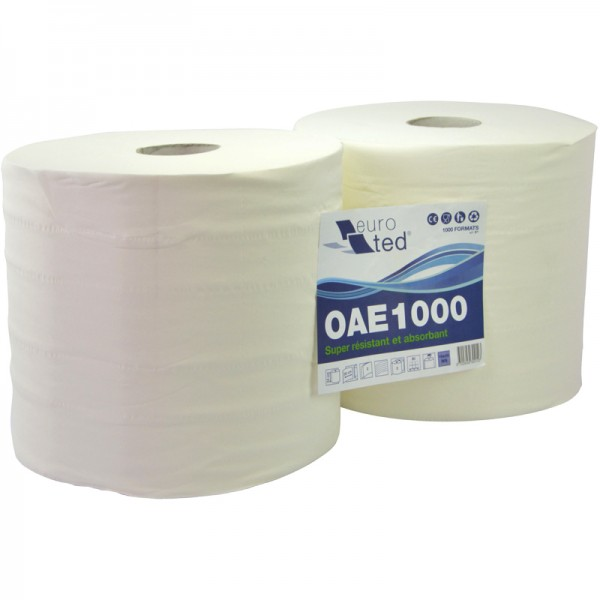 Bobine pure ouate blanche 1000F lisse 24 x 30 cm