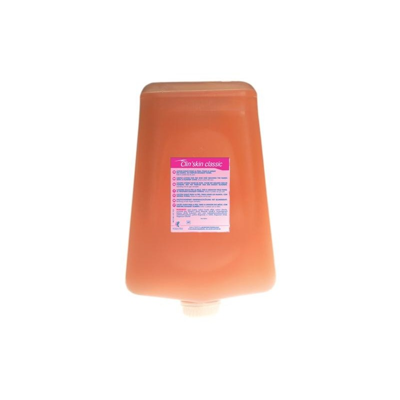 Savon crème corps/cheveux rose parfum fleuri cartouche de 2L