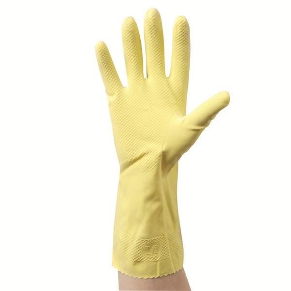 Gant ménager en latex intérieur floqué coton