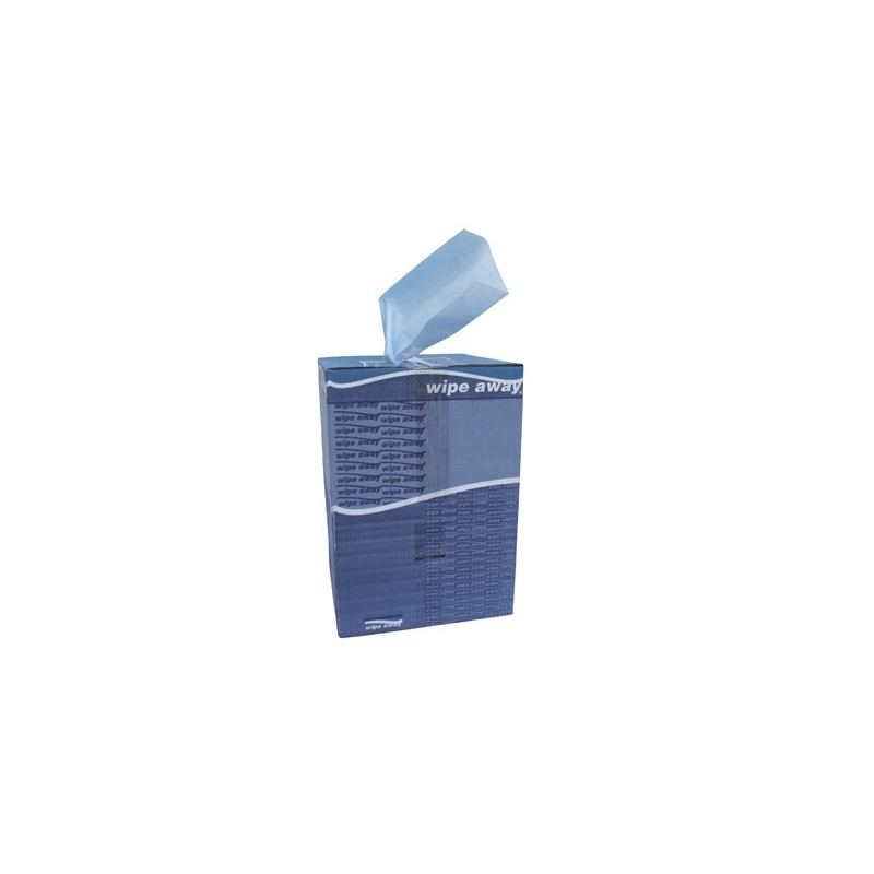 Chiffon non-tissé bleu très résistant carton de 500 formats