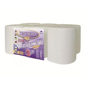 Bobine pure ouate micro gaufrée à découpe automatique 80 mètres 3 plis