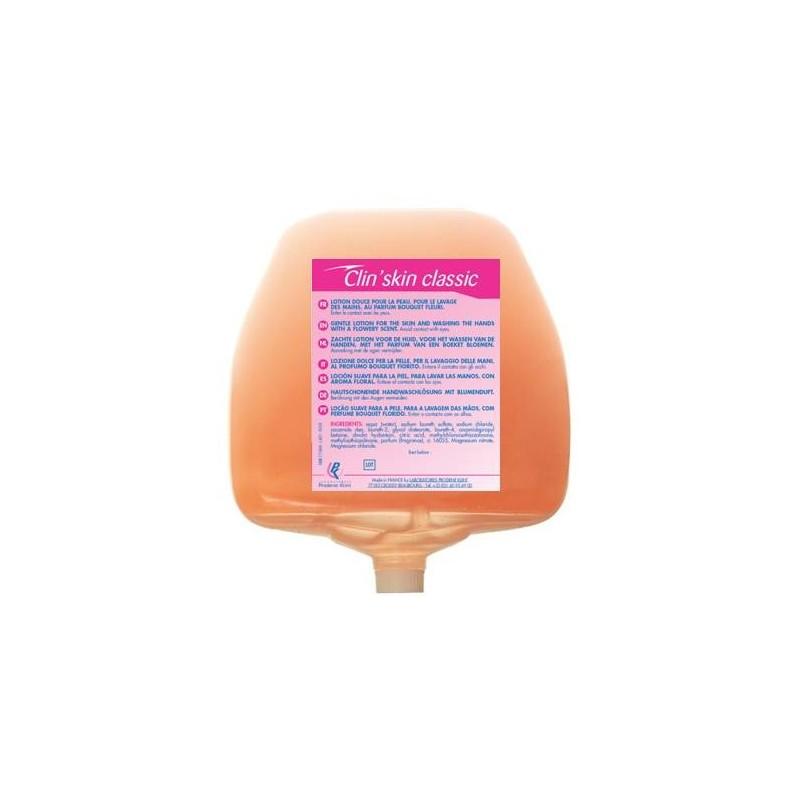 Savon crème corps/cheveux rose parfum fleuri cartouche de 1L