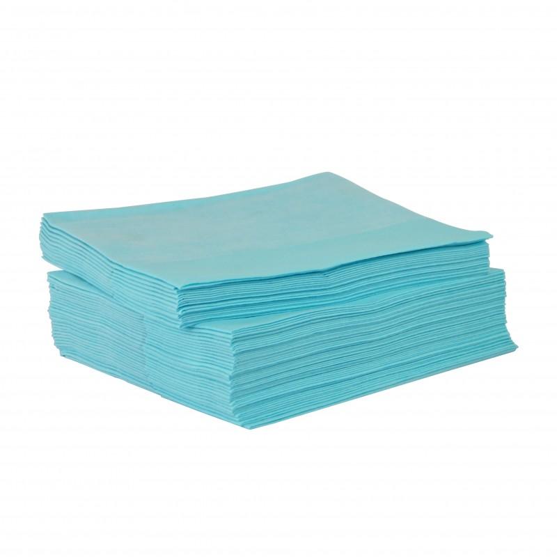 Chiffon non tissé bleu résistant paquet de 50 feuilles