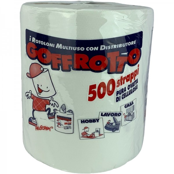 Essuie tout ménager compact pure ouate blanc gaufré 500F