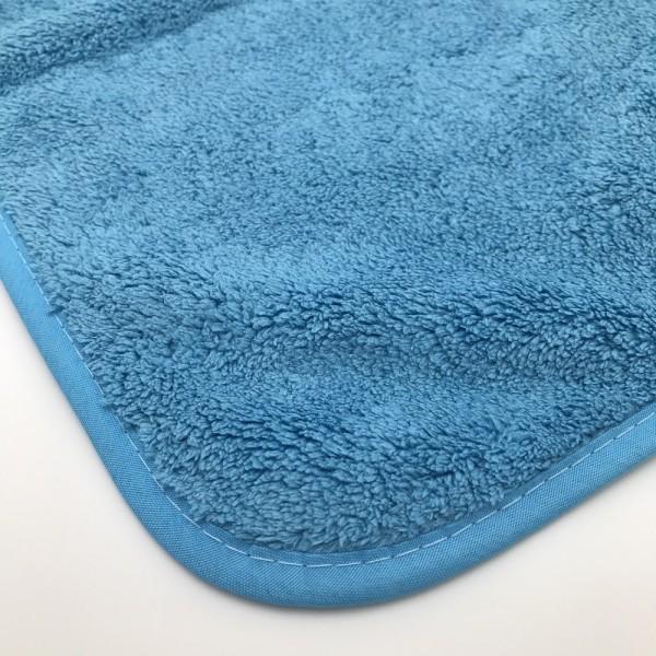 Lavette microfibres polish - bleue - 40 x 40 cm - à l'unité