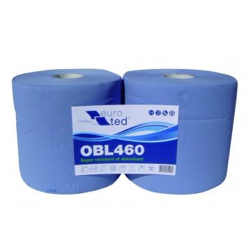 Bobine ouate bleue type 1000 F gaufrée
