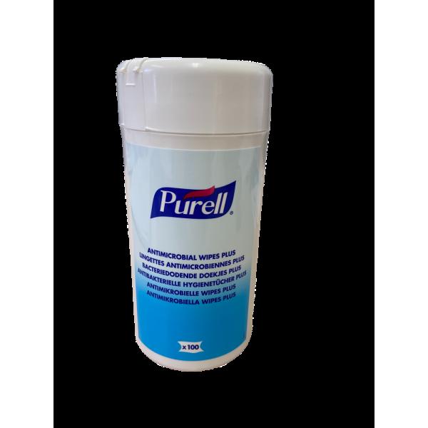 Lingettes antiseptiques/bactéricides multiusage bidon de 100