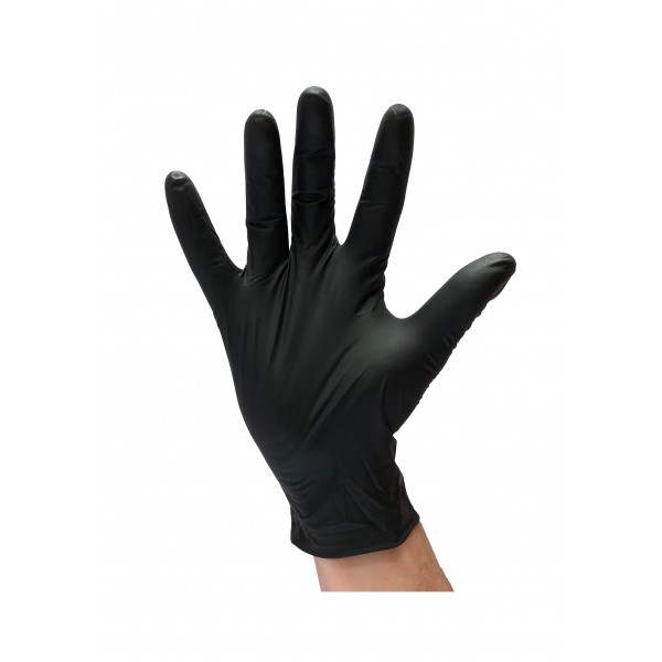 Gant nitrile noir résistant 5 gr.