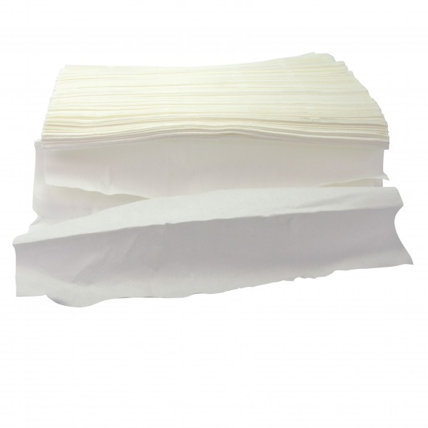 Non tissé blanc anti-chaleur alim. 57% cellulose 43% polyester 42*35