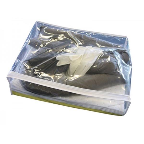 Kit absorbant 25 litres en sac étanche. Absorbe tous types de liquides