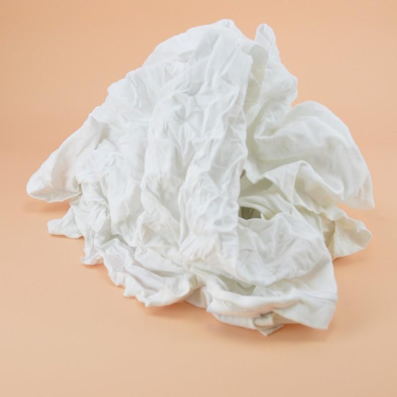 Chiffon jersey blanc tee-shirt 100% coton