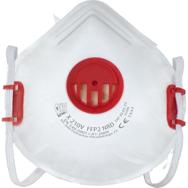 Masque de protection filtrant DONALD à coque avec valve FFP2 - sachet de 20 masques