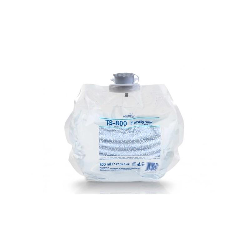 Savon antibactérien liquide mains neutre cartouche de 800 ml