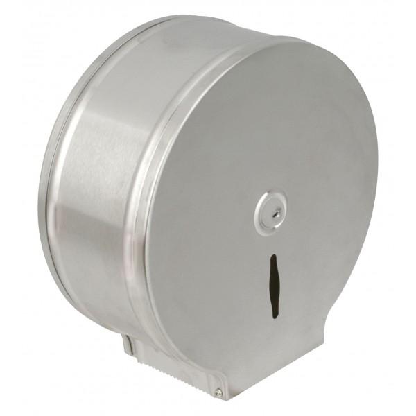 Dérouleur papier toilette mural inox pour bobine maxi jumbo