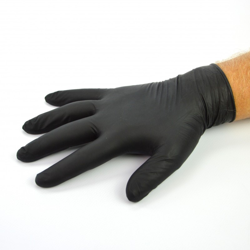 Gant nitrile noir renforcé spécial mécanicien
