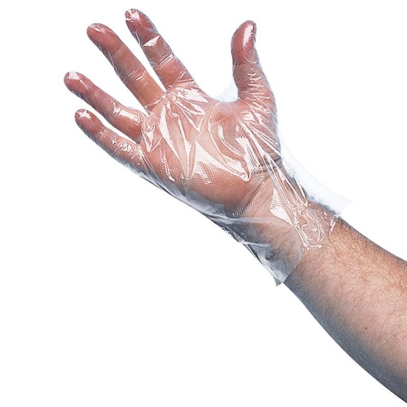Gants polyéthylène transparent