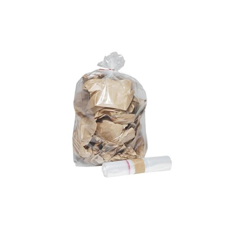 Sac poubelle transparent BD 30L 30µ rouleau de 25 sacs