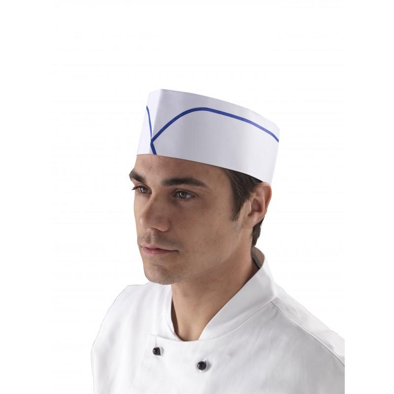 calot de cuisinier blanc en papier