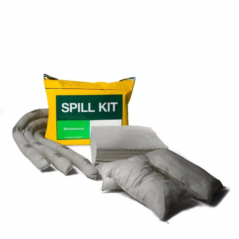 kit antipollution de 50 litres présenté en sac étanche avec bandoulière. Absorbe tous types de...