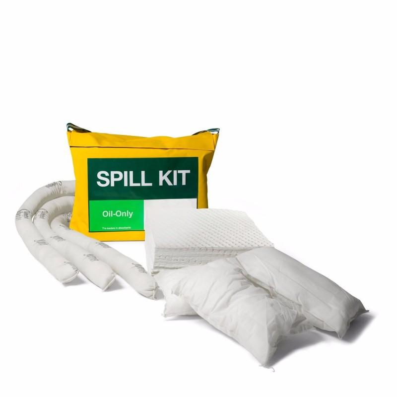 Kit antipollution de 50 litres en sac étanche avec bandoulière. Absorbe uniquement les...