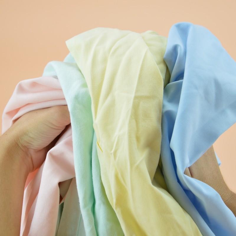 Chiffon drap couleur pastel polycoton