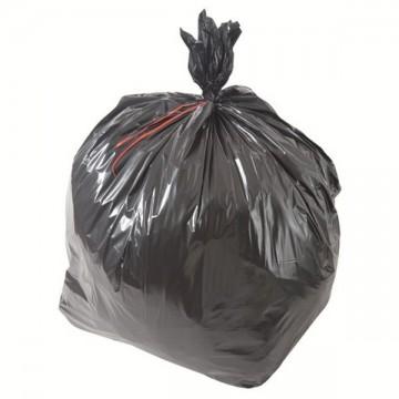 Sac poubelle noir basse densité 100L 70µ rouleau de 20 sacs