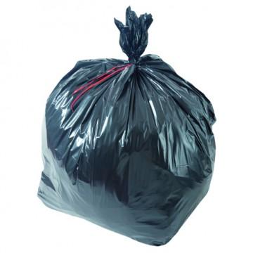 Sac poubelle noir haute densité 100L 25µ rouleau de 25 sacs