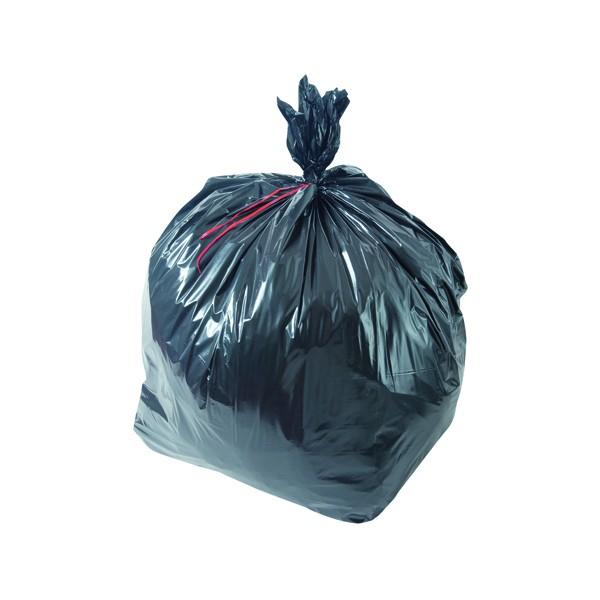 Sac poubelle noir haute densité 30L 13µ rouleau de 25 sacs