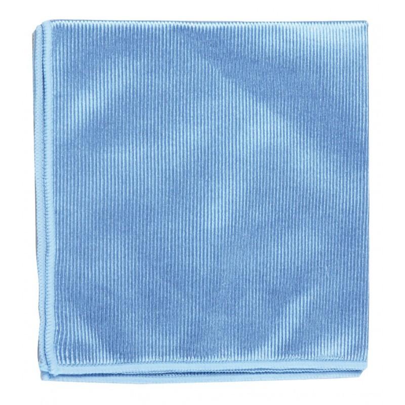 Chiffon microfibre bleu spécial vitre 40 x 40 cm