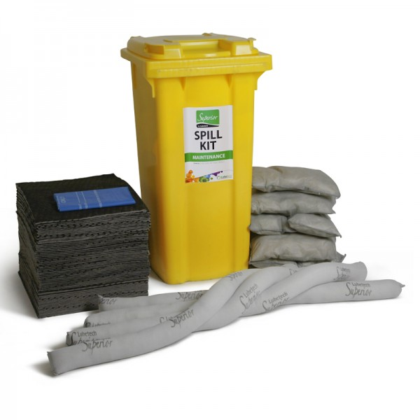 Kit antipollution sur roulettes - absorbant universel - 120 litres