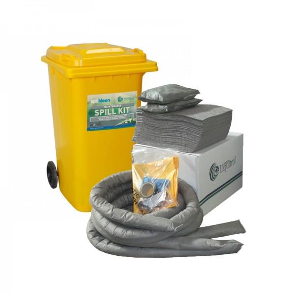 Kit antipollution sur roulettes - absorbant universel - 240 litres