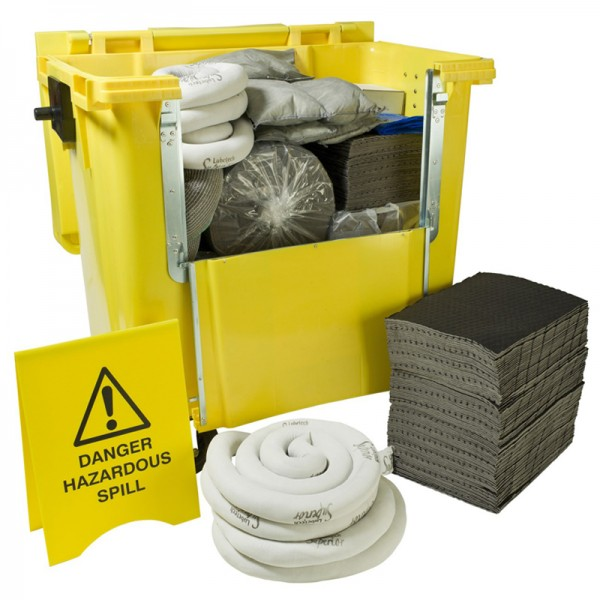 Kit antipollution sur roulettes - absorbant universel - 600 litres