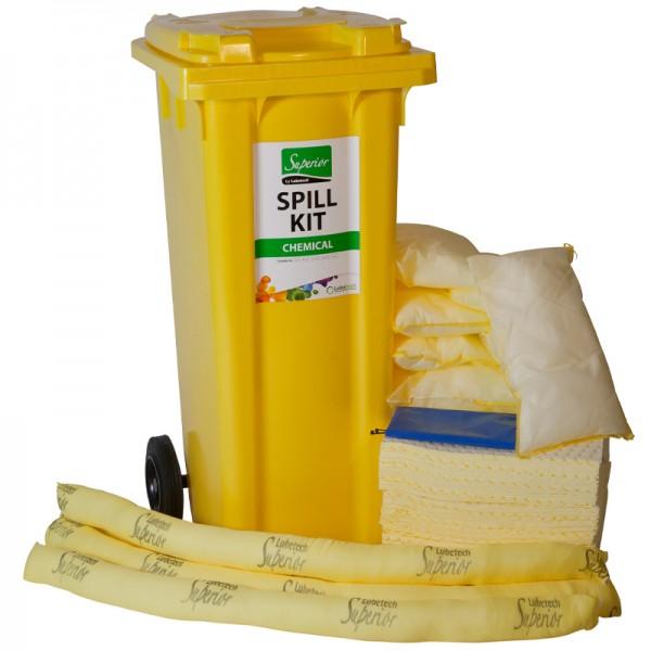 Kit antipollution sur roulettes - absorbant chimique - 120 litres