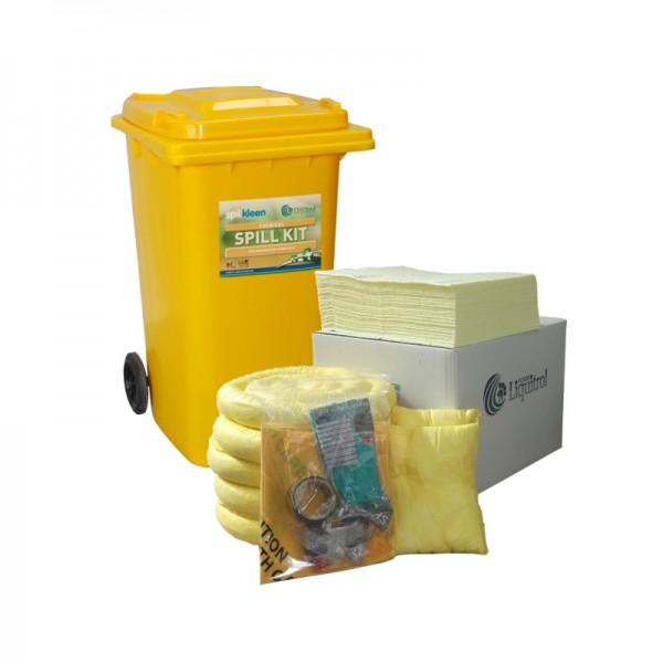 Kit antipollution sur roulettes - absorbant chimique - 240 litres