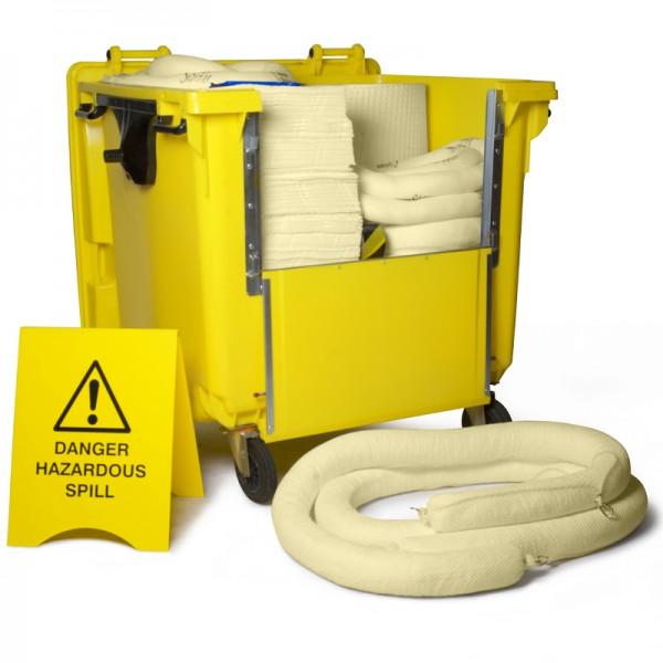 Kit antipollution sur roulettes - absorbant chimique - 600 litres