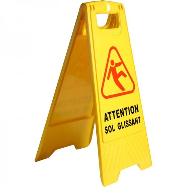 Panneau de signalisation pour sol glissant - carton de 10 panneaux
