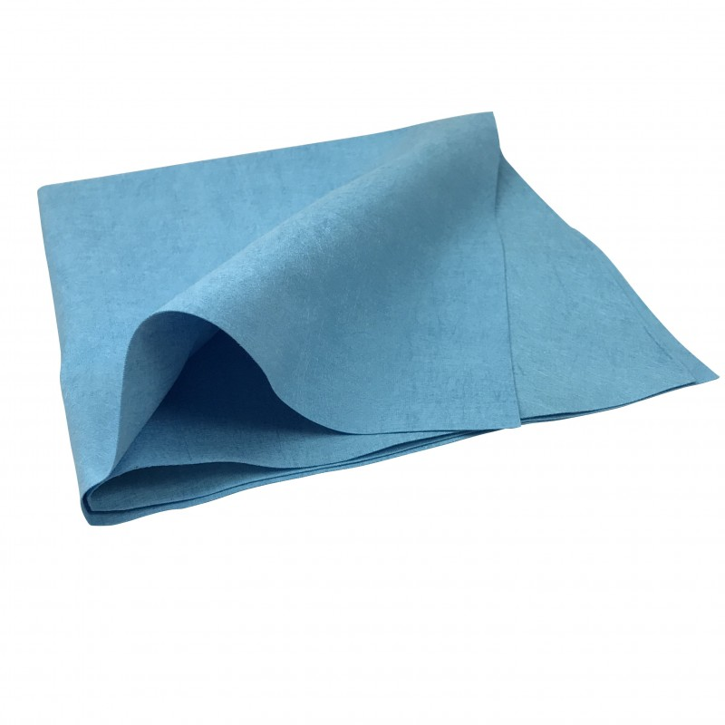 Chiffon microfibre non-tissé bleu multi-usage 38 x 40 cm