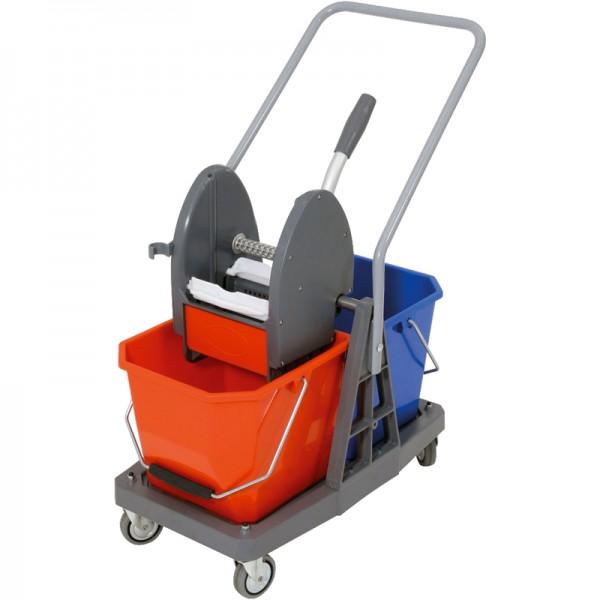 Chariot de lavage à timon latéral - 2 x 15 L