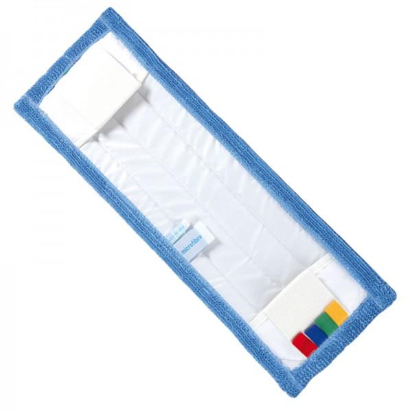 Frange de lavage à plat microfibres à poches et languettes - 40 cm