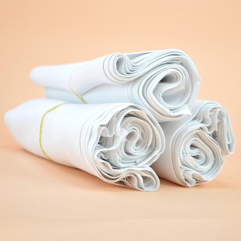 Chiffon essuie-matic blanc régulier 100% coton - carton de 30 rouleaux