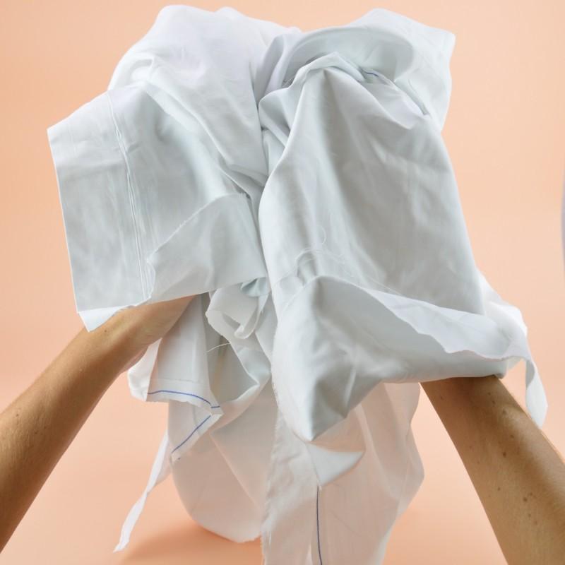 Chiffon drap optique régulier blanc 100% coton