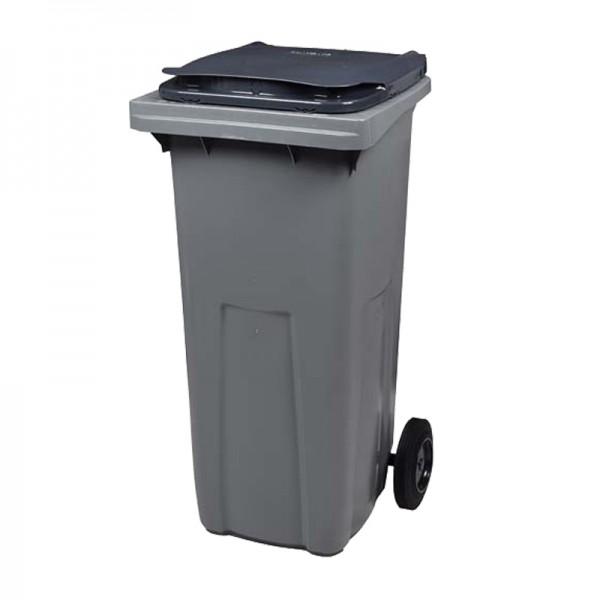 Conteneur poubelle 120 litres sans barre à 2 roues